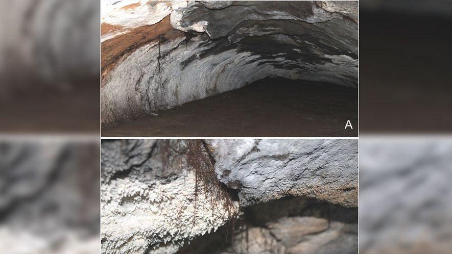 Interior de la caverna Doña Otilia.