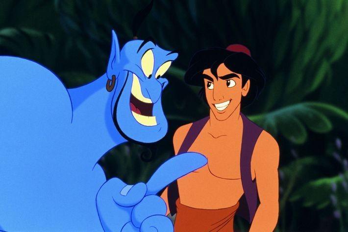 Robin Williams hizo una actuación icónica del genio en la versión animada de Aladdínen 1992.