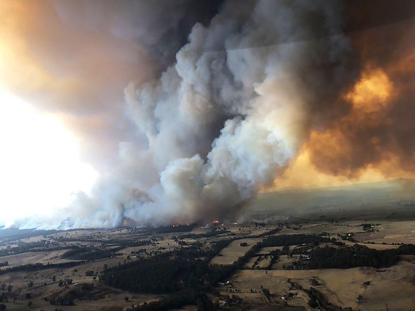 """Los incendios forestales de Australia originan intensas """"tormentas de fuego"""""""