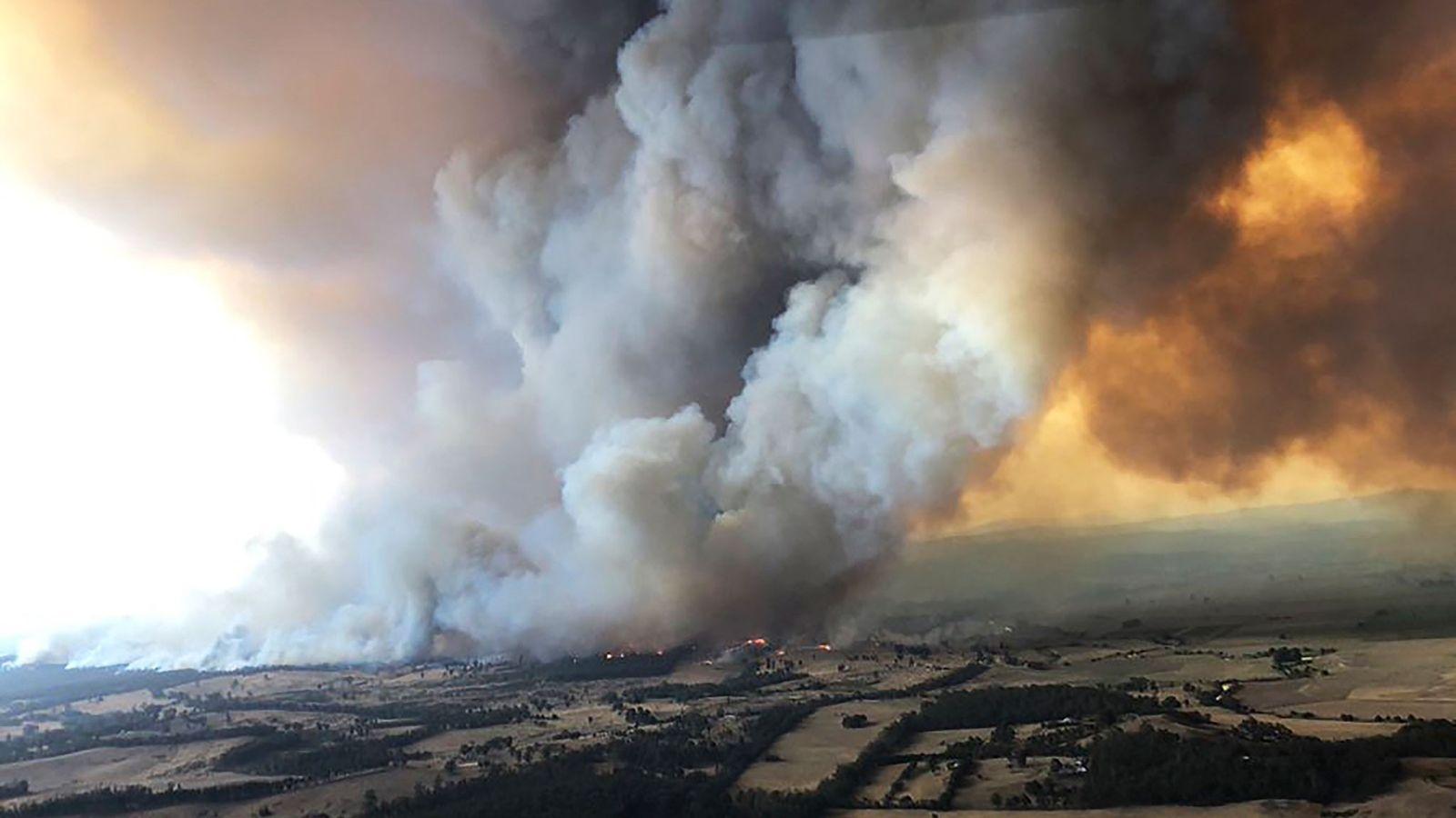 El 30 de diciembre de 2019, se desataron grandes incendios forestales en Bairnsdale, Australia. Miles de ...