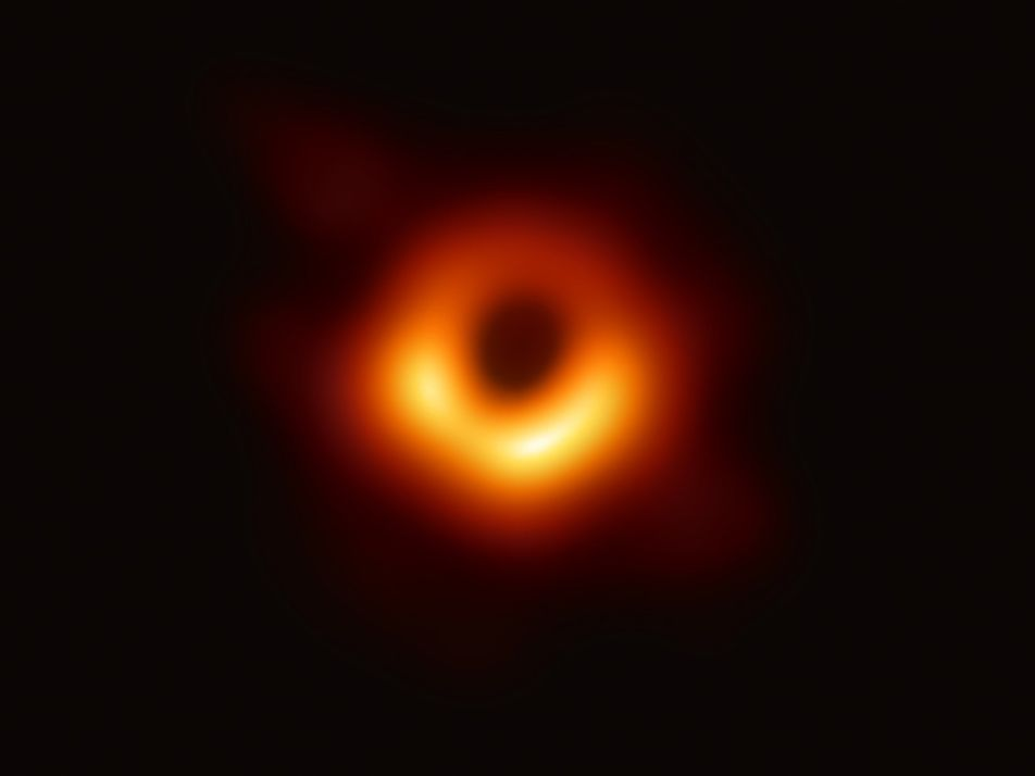 Revelan la primera imagen de un agujero negro