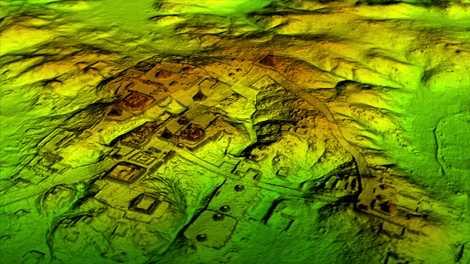 La tecnología láser conocida como LiDAR quita digitalmente el dosel del bosque para revelar ruinas antiguas ...