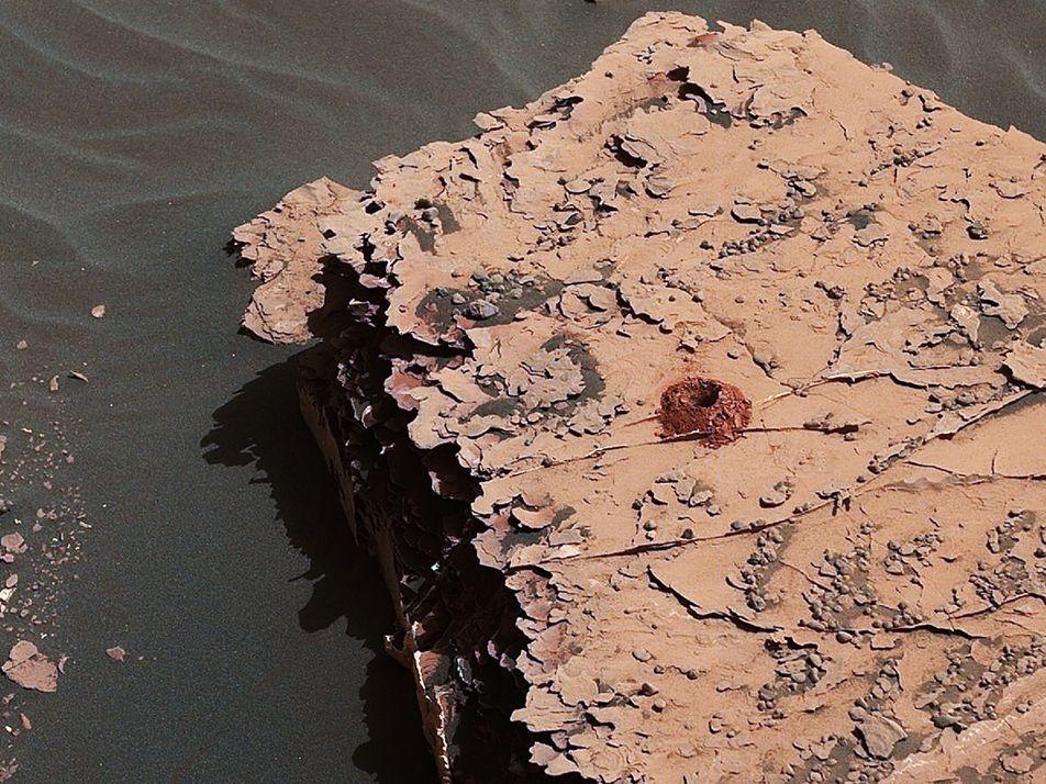 Encuentran moléculas orgánicas en la superficie de Marte