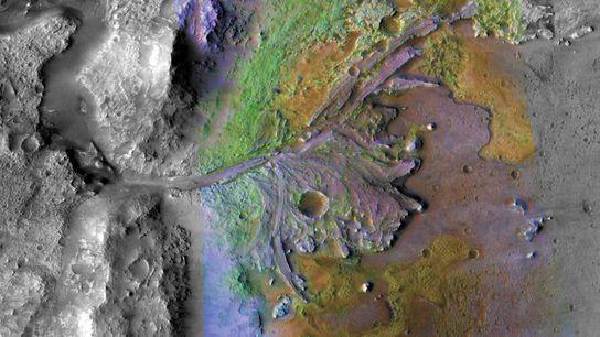 El rover Mars 2020 de la NASA está programado para aterrizar en el cráter Jezero, una ...
