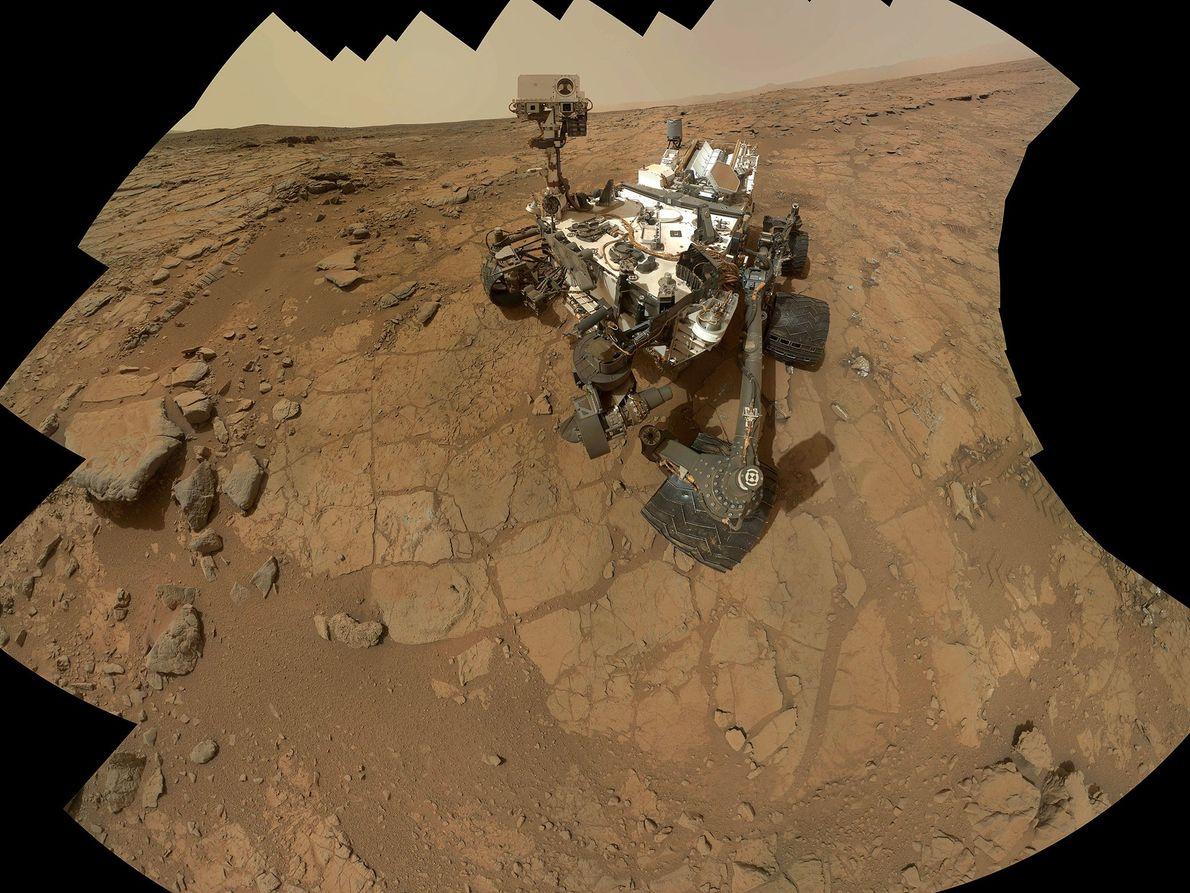 Un autorretrato del Mars rover Curiosity.