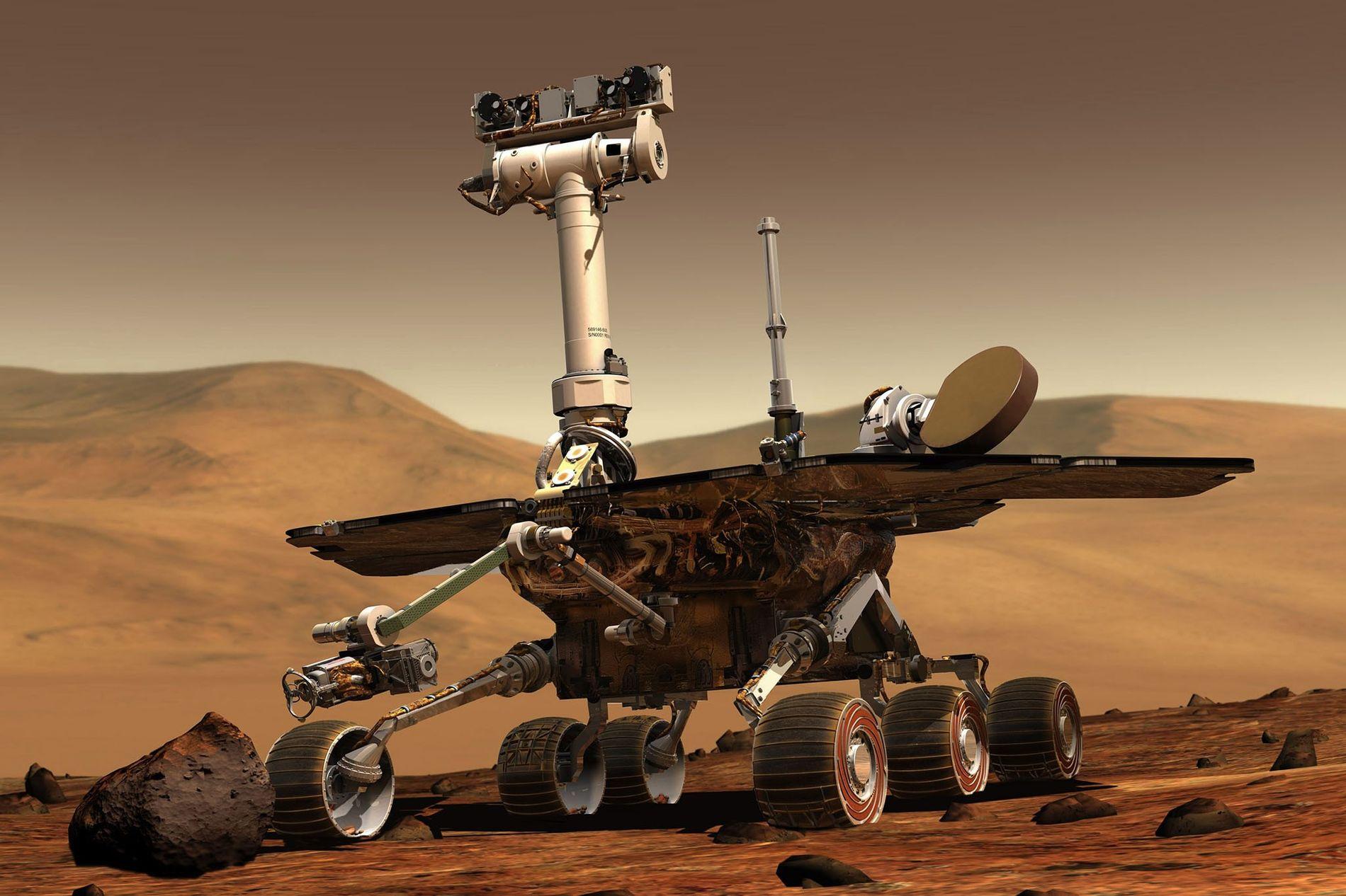 En enero de 2004, los rovers gemelos Spirit y Opportunity aterrizaron en lados opuestos de Marte ...