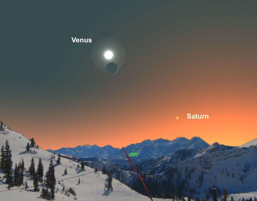 No te pierdas a Venus cerca de la luna creciente el 28 de diciembre.