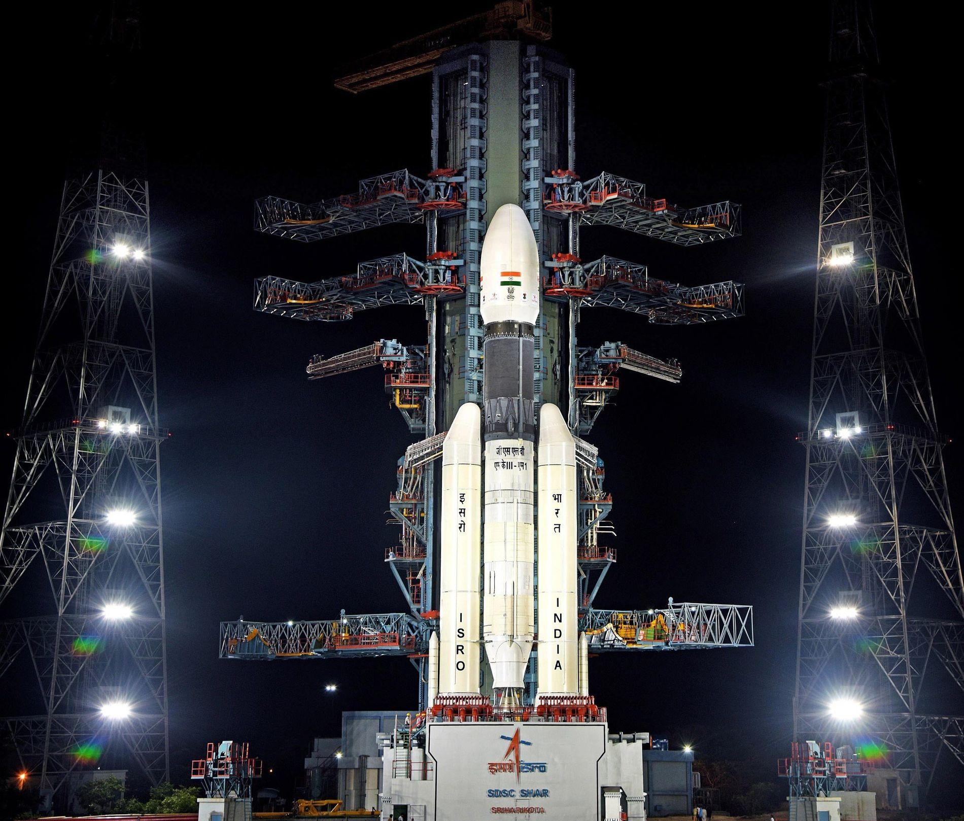 En julio, la misión Chandrayaan-2 de India se lanzó hacia la luna sobre un cohete GSLV ...