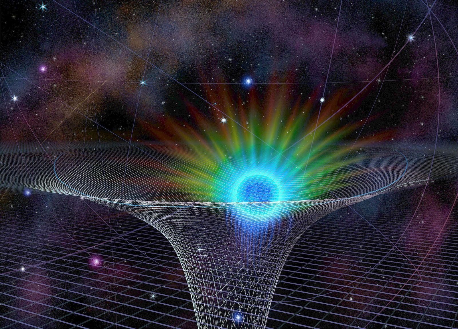 La estrella conocida como S2 en el punto más cercano al agujero negro supermasivo Sagitario A*, ...