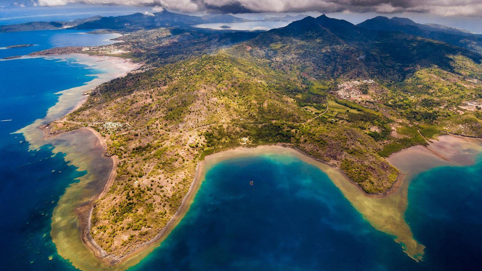 Vista aérea de la Isla Mayotte.