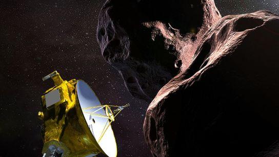 La nave espacial New Horizons de la NASA se encuentra con el MU69 2014, un pequeño ...