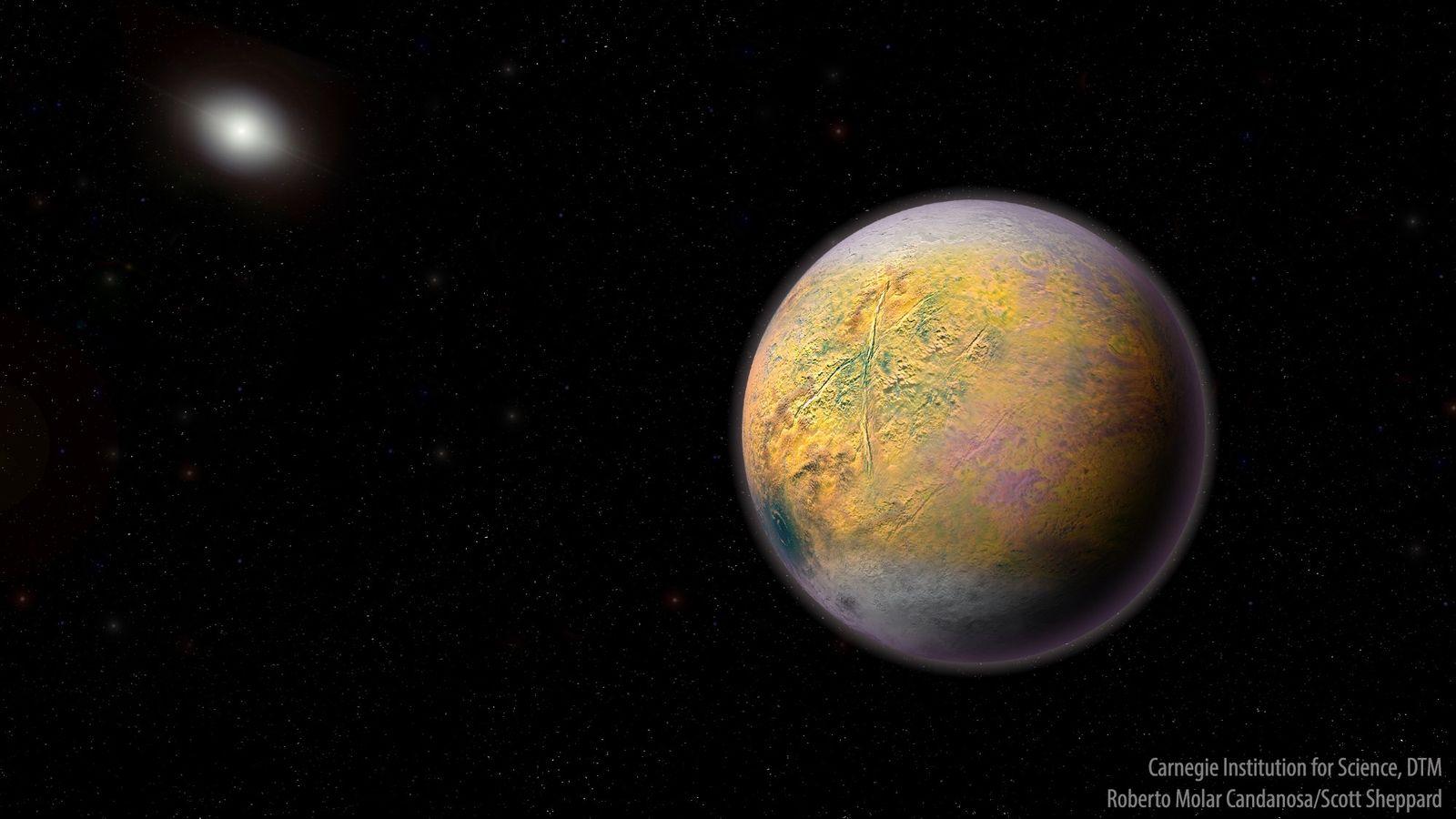 Ilustración del Planeta X, un mundo todavía sin descubrir que podría modificar las órbitas de objetos ...
