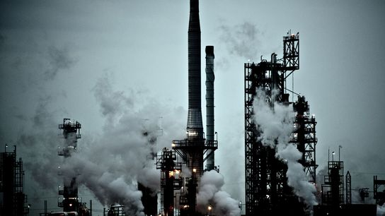 Una central de carbón DTE en River Rouge.