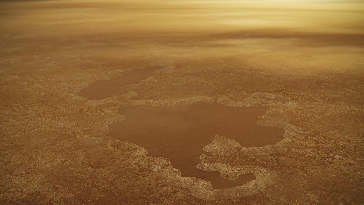 Los lagos de la mayor luna de Saturno podrían haber sido generados por explosiones
