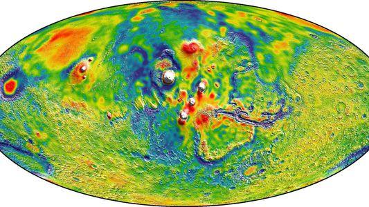 Tres cosas interesantes que hemos aprendido del mapa gravitacional de Marte de la NASA