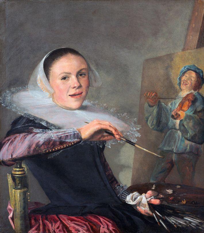 Judith Leyster fue una de las primeras artistas en cuyo autorretrato aparece trabajando.