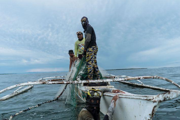 Durante años, los pescadores que trabajan en las aguas de Bohol han visto cómo sus capturas ...
