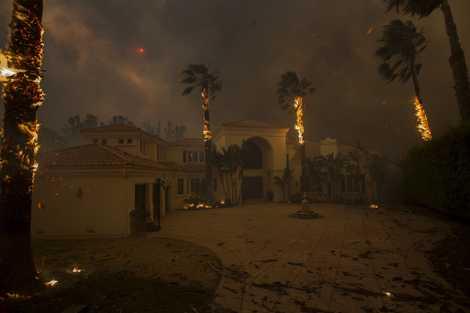 Impactantes imágenes de los incendios en California