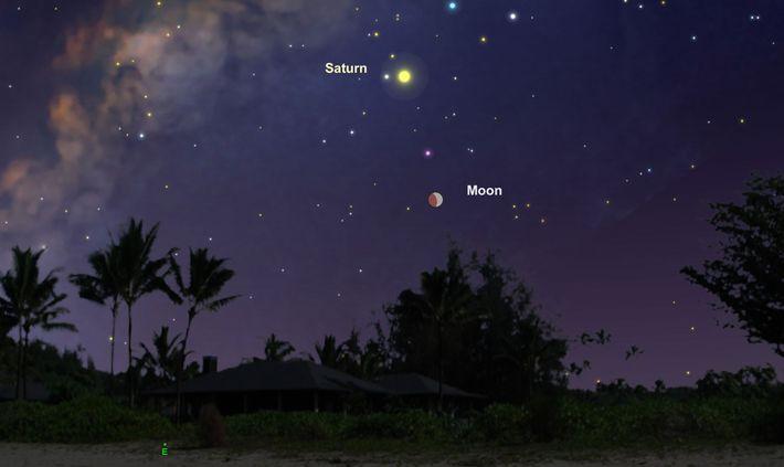 Las primeras etapas del eclipse parcial serán visibles en toda América del Sur a medida que ...