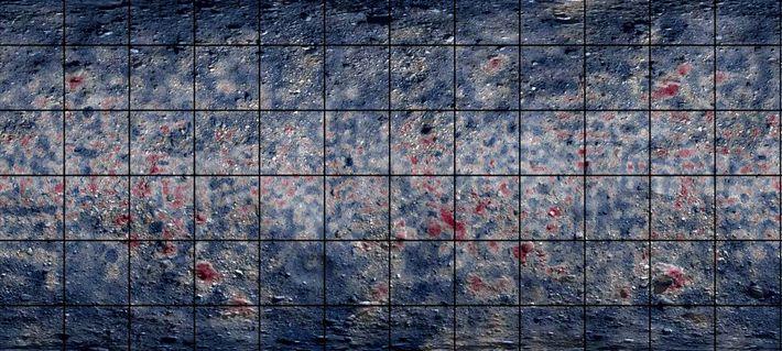 Un mapa global de Bennu que utiliza espectroscopía infrarroja destaca áreas ricas en materiales que contienen ...