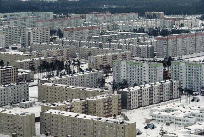 La ciudad de Prípiat se construyó para albergar a los trabajadores de la central de energía ...