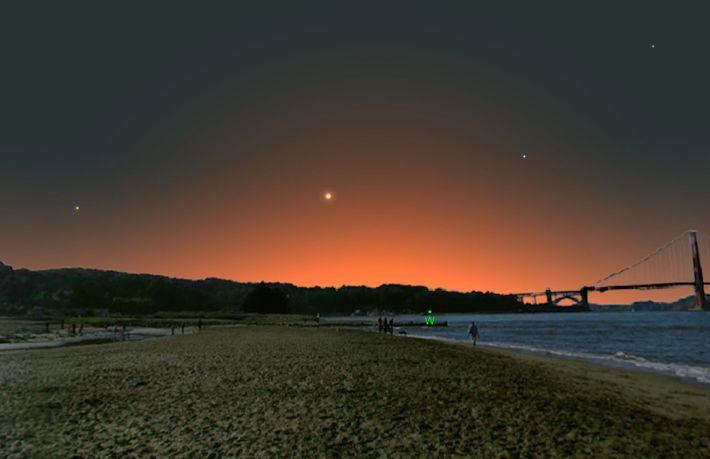 Mercurio estará más alejado del sol y, por lo tanto, será más fácil de detectar en ...