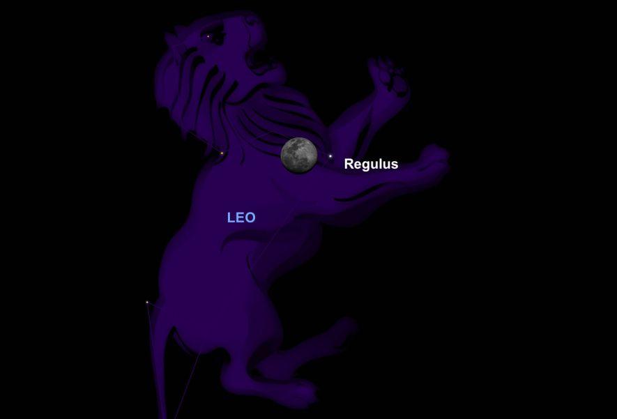 El 18 de marzo, la luna estará cerca del corazón de Leo, el león.