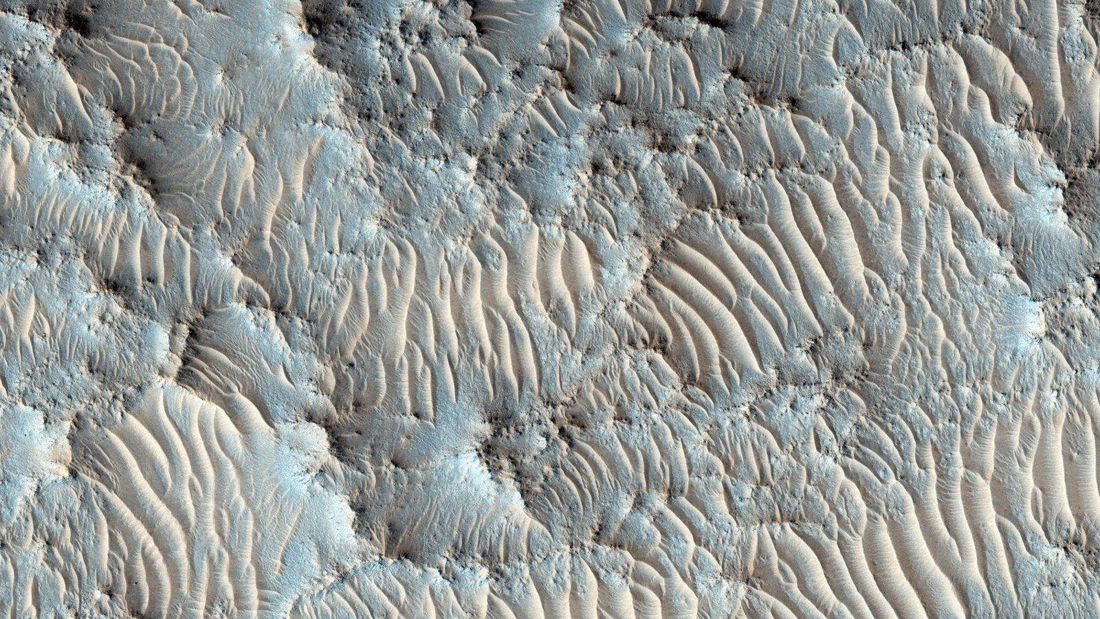 La NASA ha seleccionado el cráter Jezero, que se ve aquí en una imagen del Mars ...