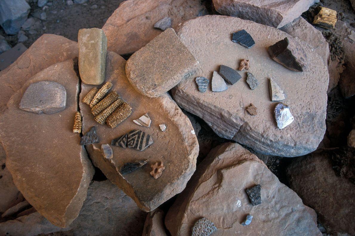 El arte de la antigua región suroeste describe a personas con decoración en el cuerpo, pero ...