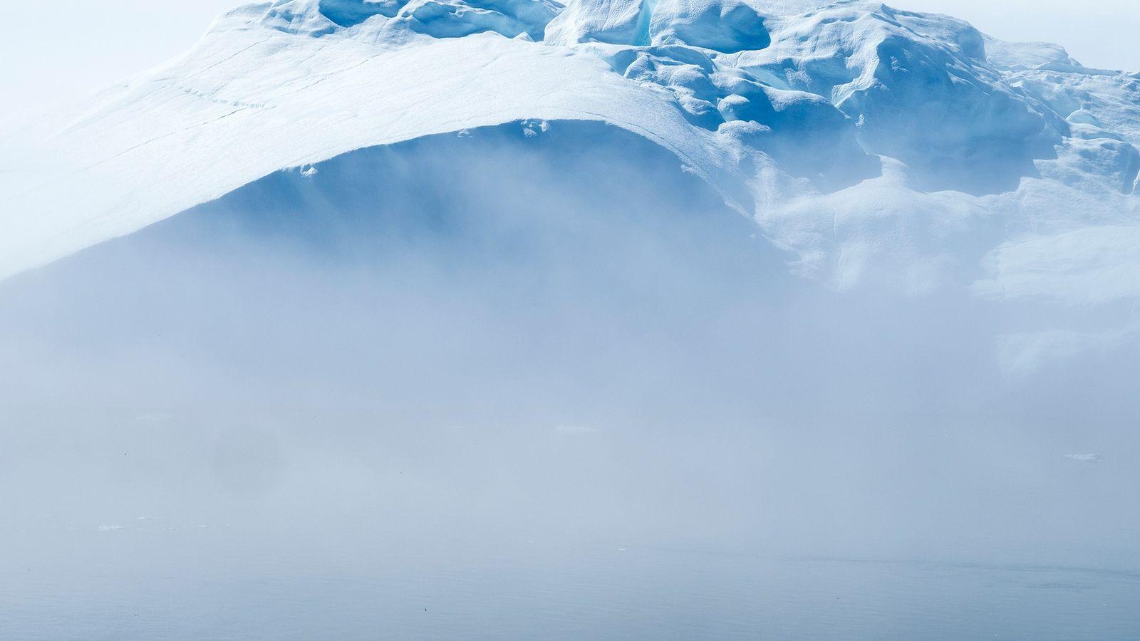 Icebergs en Disko Bay, Groenlandia.