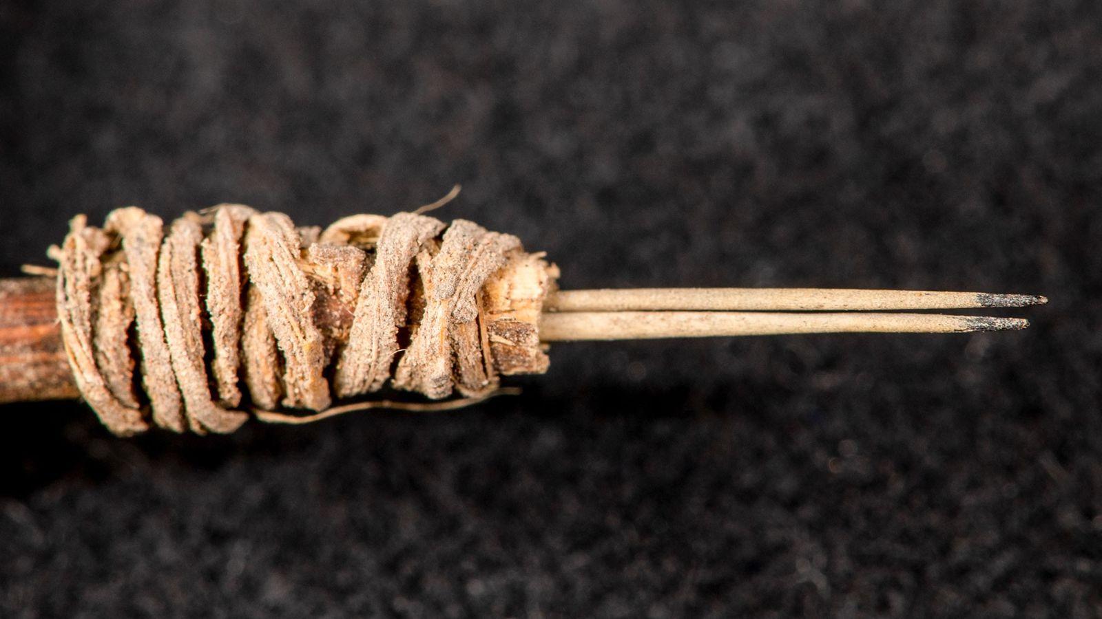 A los arqueólogos les llevó un año de investigación determinar que se utilizó un conjunto de ...