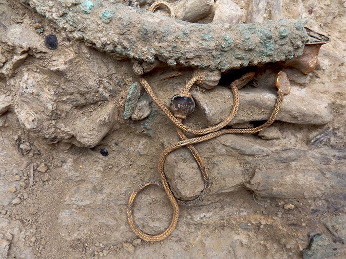 Guerrero griego de la edad de bronce