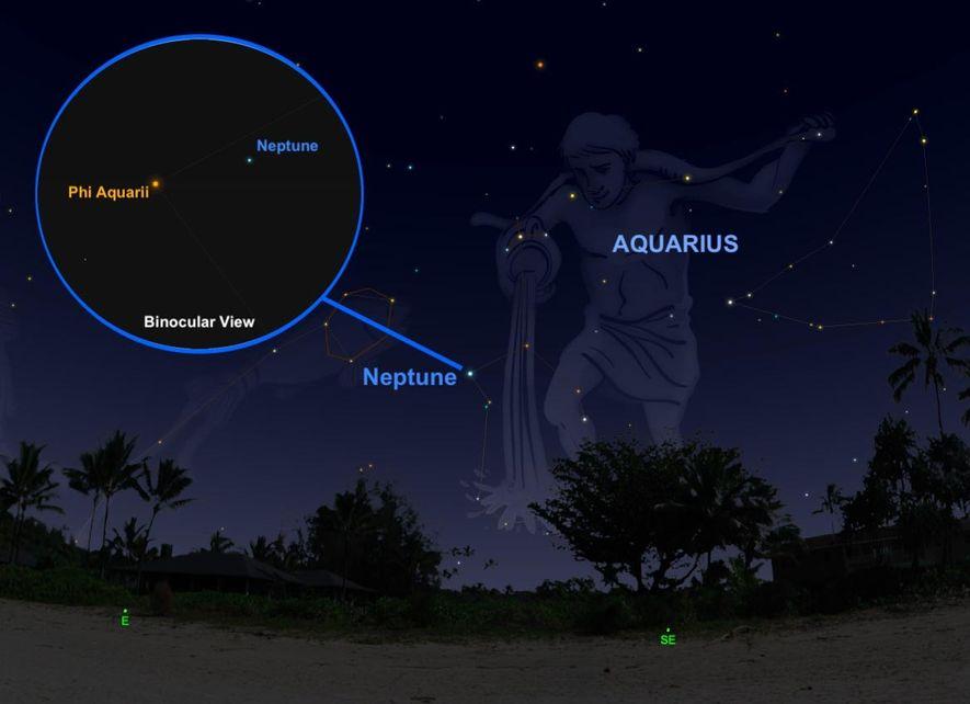 El 10 de septiembre, el gigante helado Neptuno estará en su punto de máximo brillo y ...