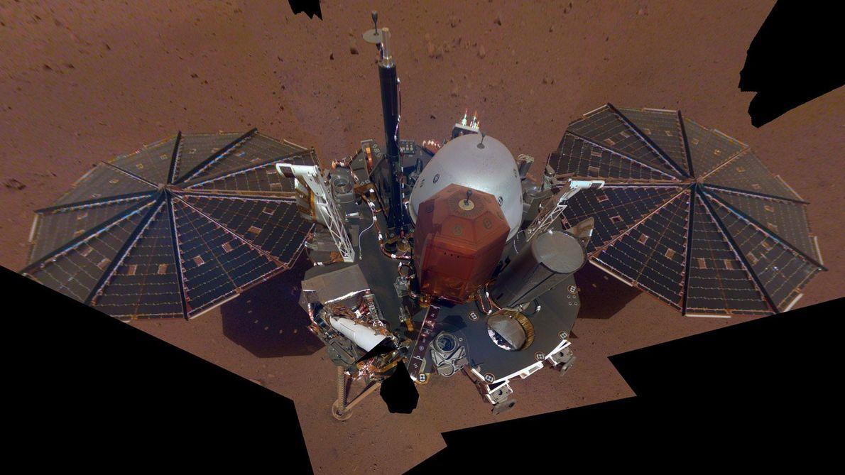 El 6 de diciembre de 2018, el aterrizador Insight Mars de la NASA se tomó la ...