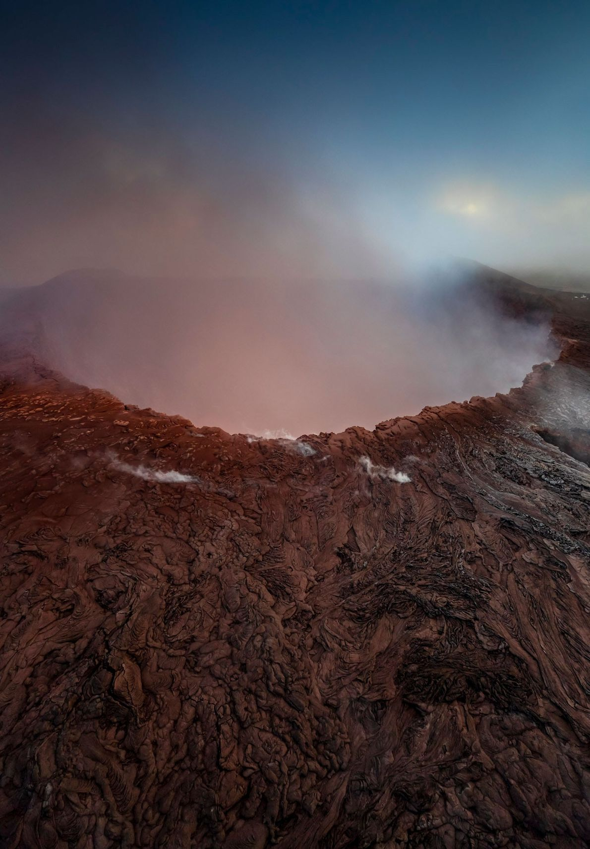 La lava solía burbujear bajo la superficie del cráter Pu'u O'o. Sin embargo, en abril comenzó ...