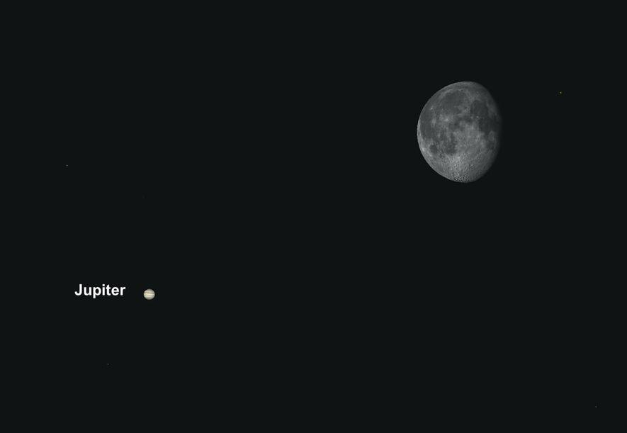 Júpiter pasará cerca de la luna el 23 de abril, creando una excelente oportunidad para sacar ...