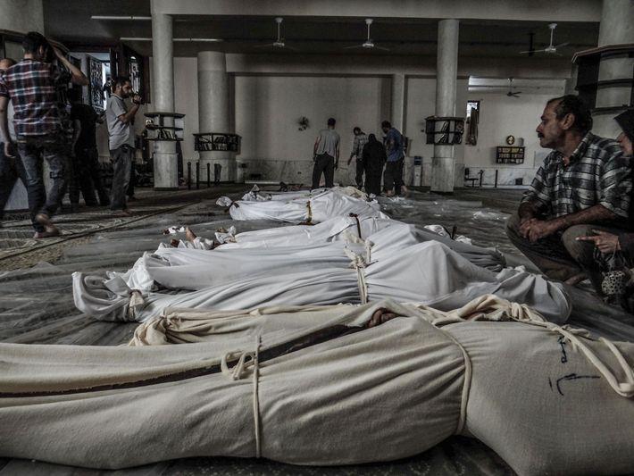 El 21 de agosto de 2013, un supuesto ataque con armas químicas a Guta Oriental (a ...