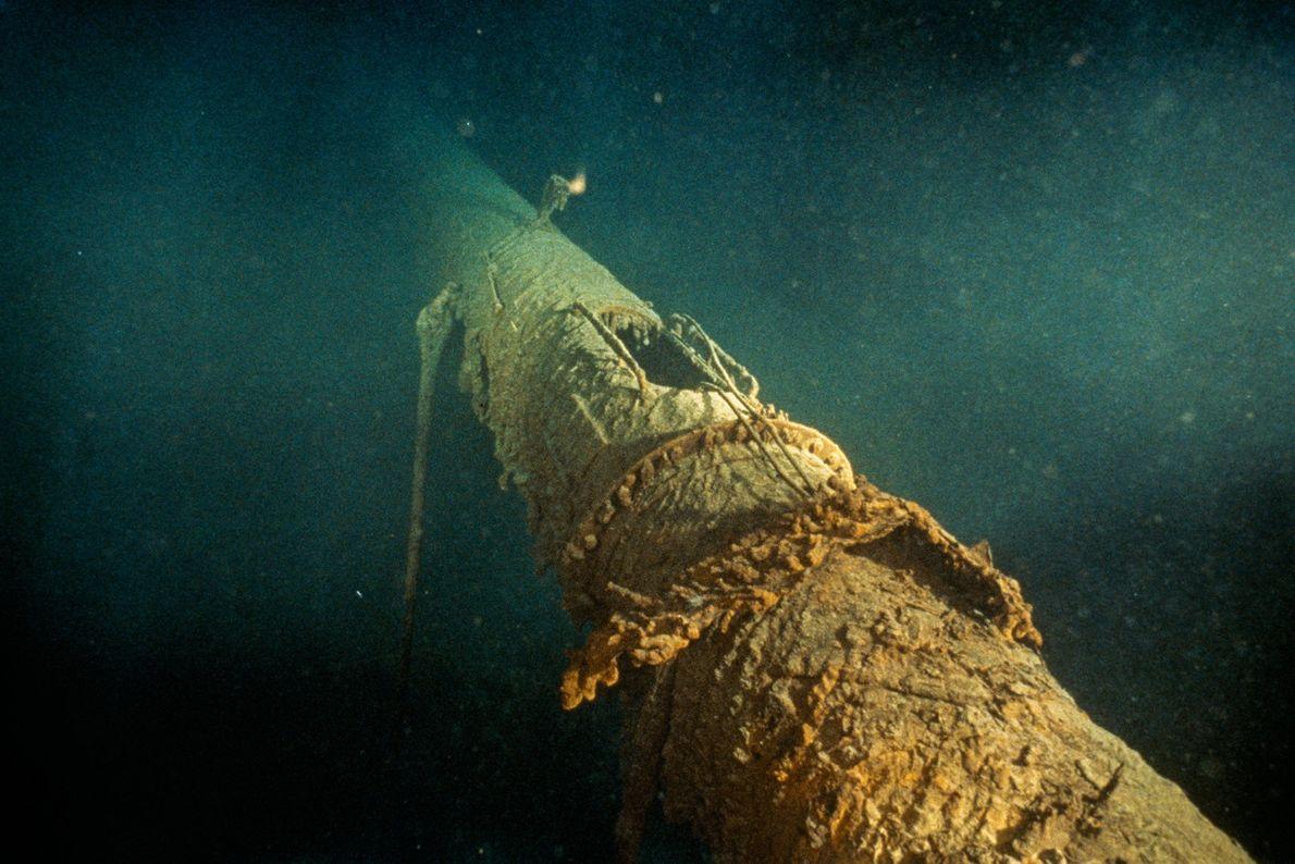 El nido del barco, donde el miembro de la tripulación Frederick Fleet vio por primera vez ...