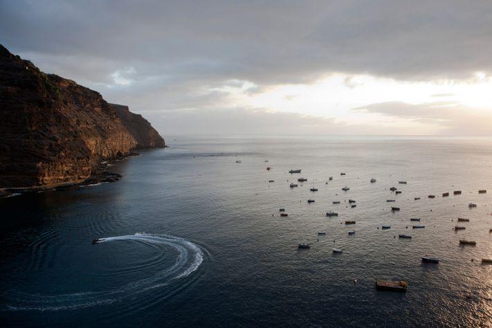 St Helena Island Ariel View