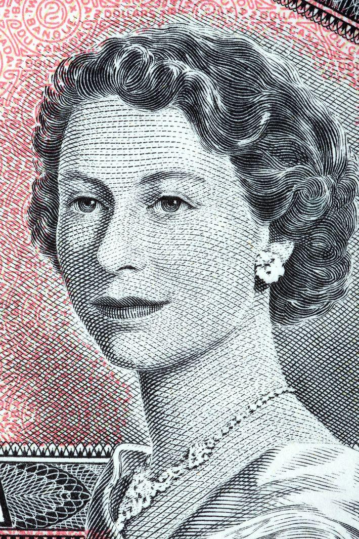 La reina Isabel II aparece en un billete de dos dólares canadienses de 1954. Canadá se ...