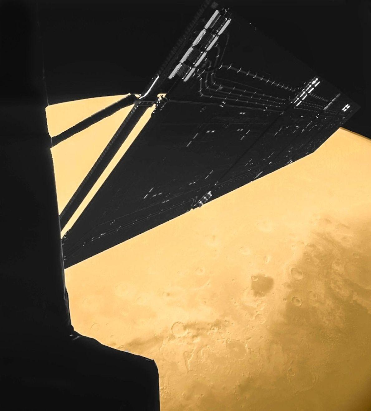 En el 2007, la sonda Rosetta estuvo a apenas 250 kilómetros de distancia de la superficie ...