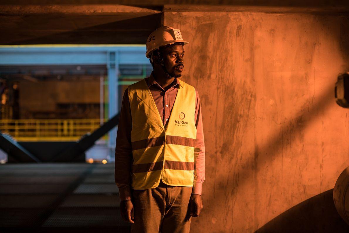 George Ngomi es ingeniero senior de KenGen en Olkaria I.