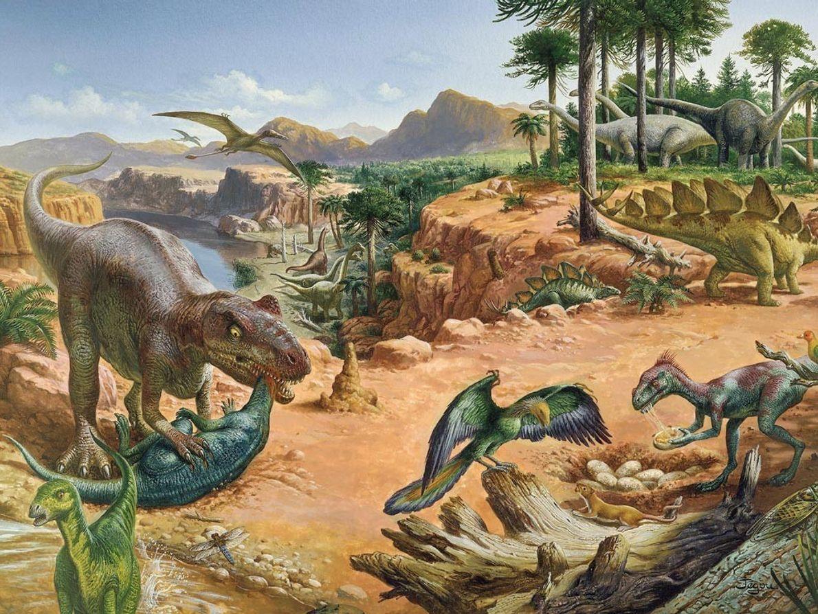 El período Jurásico (hace entre 199,6 y 145,5 millones de años) se caracterizaba por un clima ...
