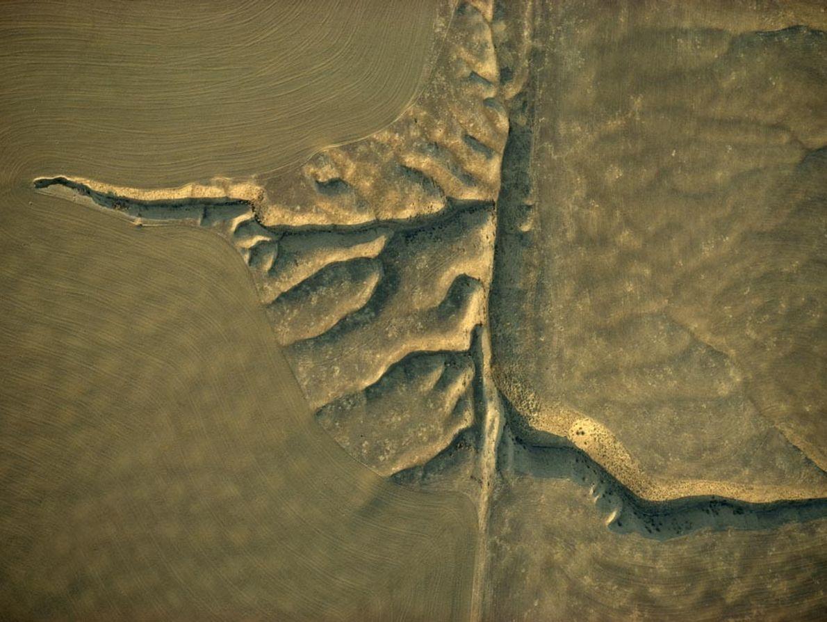 La llanura de Carrizo a lo largo de la falla de San Andrés en California. La ...