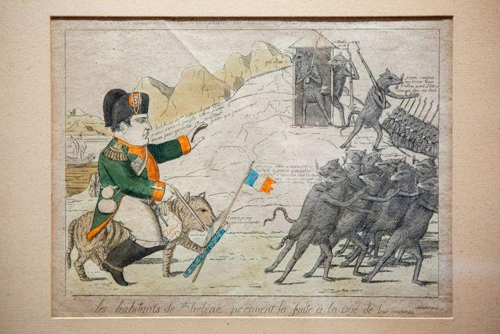 Caricature of Napoleon