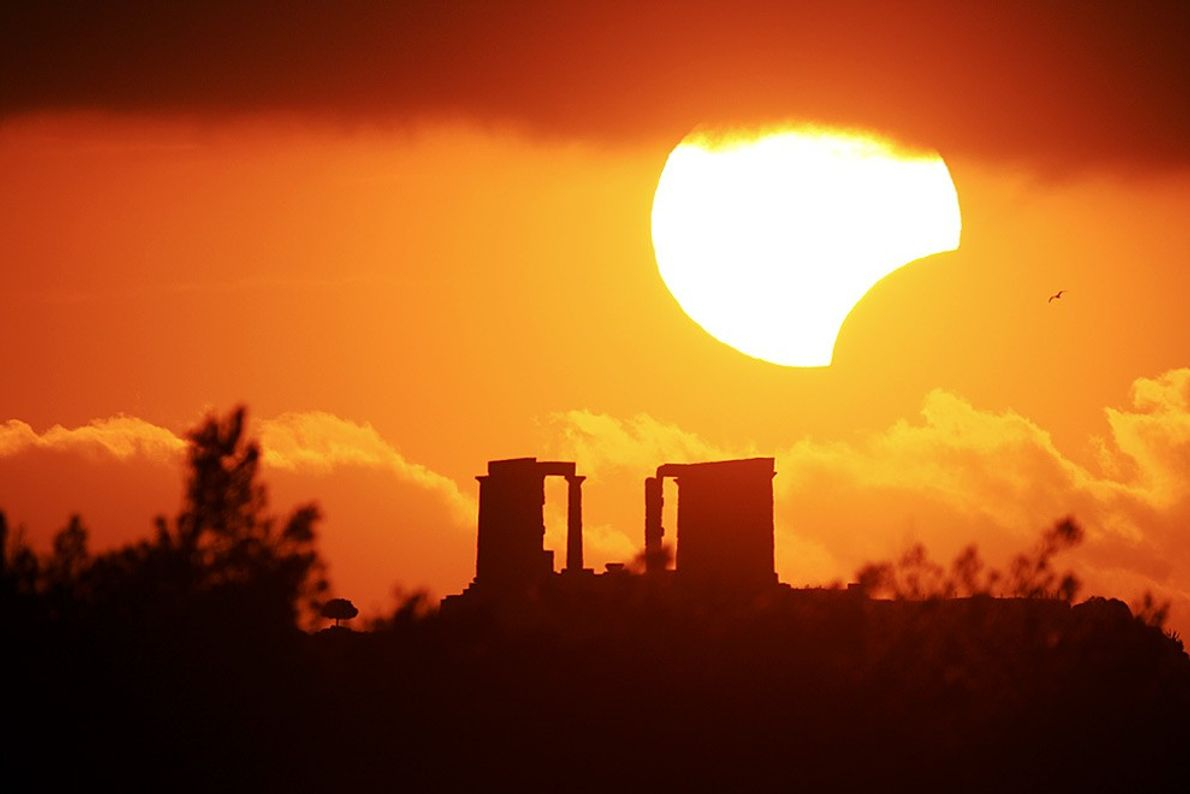 Partial Eclipse Over Greece