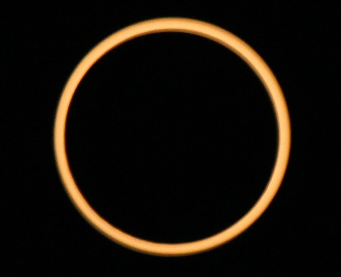 Eclipse Ring Over India