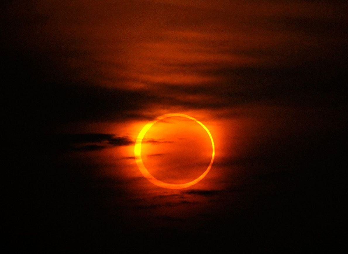 Annular Eclipse Over China