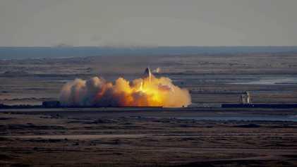 Así fue la explosión de la nave Starship SN8 de SpaceX