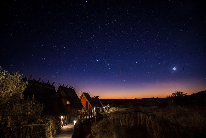 Dentro del !Ae!Hai Kalahari Heritage Park, uno de los lugares más oscuros del planeta, los visitantes ...